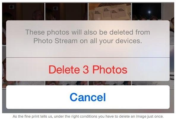 how to delete photo stream